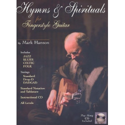Hymns and Spirituals (+CD) : for fingerstyle guitar/tab
