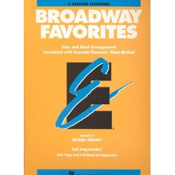 Broadway Favorites : for bariton saxophon Solos and band arrangements