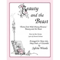 Menken, Alan: Beauty and the Beast (Main Theme) : for 1-2 harps (voice and melody instrument ad lib) parts