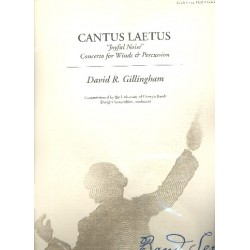 Gillingham, David R.: Cantus Laetus : for concert band and percussion score
