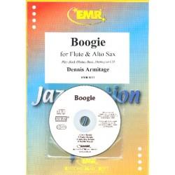 Armitage, Dennis: Boogie (+CD) : f├╝r Fl├Âte, Altsaxophon und Klavier (Gitarre, Bass, Drums ad lib) Partitur und Stimmen