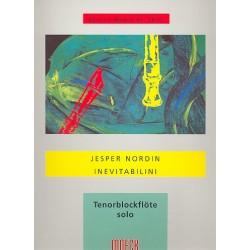 Nordin, Jesper: Inevitabilini : f├╝r Tenorblockfl├Âte