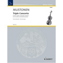 Mustonen, Olli: Triple Concerto for 3 violins and chamber orchestra : for 3 violins and piano, parts