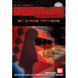 Matheos, Chris: Famous Rock & Blues Bass Progressions (+CD)