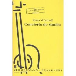Wüsthoff, Klaus: Concierto de Samba : für 3 Gitarren und Zupforchester : für 3 Gitarren und Klavier Stimmen