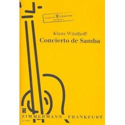 Wüsthoff, Klaus: Concierto de Samba : für 4 Gitarren und Zupforchester : für 4 Gitarren und Klavier Stimmen