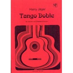 Jäger, Harry: Tango Doble : für Violine und Gitarren-Ensemble Partitur