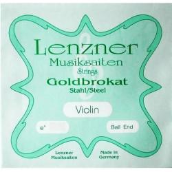 Lenzner Goldbrokat Violinsaite E 4/4 (Kugel) - sehr hart (.28)
