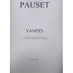 Pauset, Brice: Vanités : pour haute-contre, soprano, 2 violons, alto, violoncelle, contrebasse, clavecins et théorbe partition
