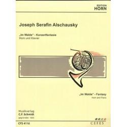 Alschausky, Joseph Franz Serafin: Im Walde : für Horn und Klavier
