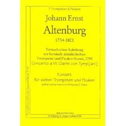 Altenburg, Johann Ernst: Konzert : für 7 Trompeten und Pauken Partitur