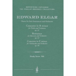 Elgar, Edward: Music for solo instrument and orchestra : study score