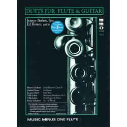 Music minus one Flute (+3 CD's) : duets for flute and guitar vol.2