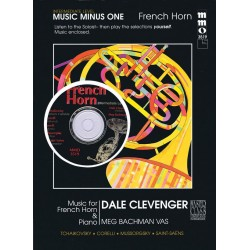 Music minus one French horn : music for French horn and piano (intermediate level), book+CD