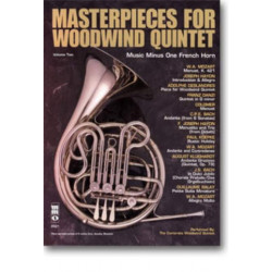 Music minus one French horn : masterpieces for woodwind quintet vol.2 book+CD
