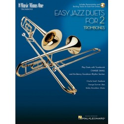 MUSIC MINUS ONE TROMBONE : EASY JAZZ DUETS FOR 2 TROMBONES AND RHYTHM SECTION BOOK+CD