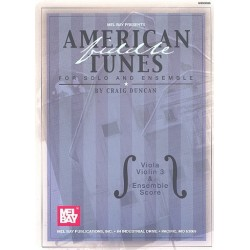 American Tunes for strings and piano score and parts for viola (melody), viola (harmony) and violin 3