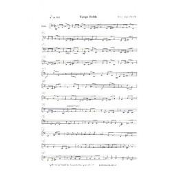 Jäger, Harry: Tango Doble : für Violine und Gitarren-Ensemble Bass