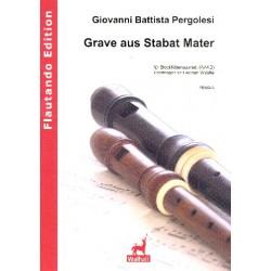Pergolesi, Giovanni Battista: Grave aus dem Stabat mater : f├╝r 4 Blockfl├Âten (AAAB)