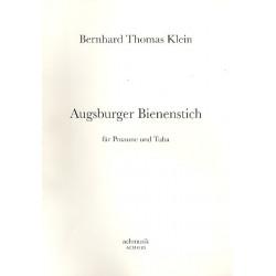Klein, Berhard Thomas: Augsburger Bienenstich : für Posaune und Tuba