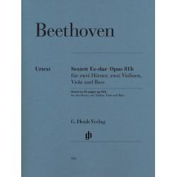 Beethoven, Ludwig van: Sextett Es-Dur op.81b : für 2 Hörner, 2 Violinen, Viola und Violoncello (Kb) Stimmen