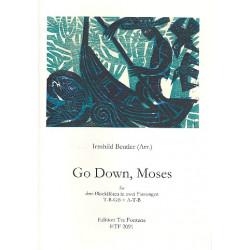 Go down Moses : f├╝r 3 Blockfl├Âten (TBGb/ATB) Partitur und Stimmen