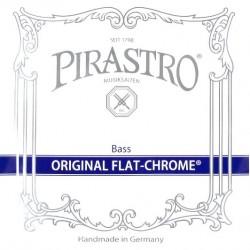 Pirastro Original Flat-Chrome Kontrabasssaiten SATZ 3/4 (Solo) - mittel