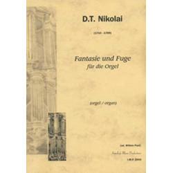 Nikolai , D. T.: Fantasie und Fuge g-Moll für Orgel