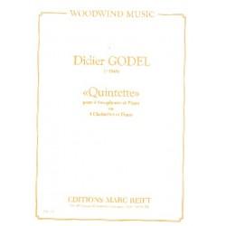 Godel, Didier: Quintette : für 4 Saxophone (Klarinetten) und Klavier Partitur und Stimmen