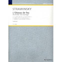 Strawinsky, Igor: Der Feuervogel für Klarinette in A (und C), 4 Saxophone (SATBar) und Klavier Partitur und Stimmen