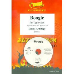 Armitage, Dennis: Boogie (+CD) : für Tenorsaxophon und Klavier (Bass und Percusion ad lib)