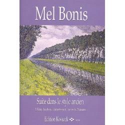 Bonis, Mel (Domange, Mélanie): Suite dans le style ancien : pour 2 flutes, hautbois, clarinette, cor en fa et 2 bassons