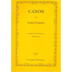 Pachelbel, Johann: Canon : for 3 treble recorders and bc parts