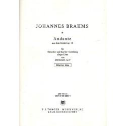 Brahms, Johannes: Andante op.18 : für Streicher und Klavier zu 4 Händen Klavier zu 4 Händen