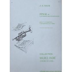 Bach, Johann Sebastian: Final de la Passion selon Saint Jean : pour 3 trompettes, 3 trombones et tuba partition et parties