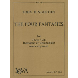 Hingeston, John: The 4 fantasies for 2 bass viols (basson/cellos)