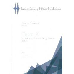 M├╝llenbacher Alexander: Terra X : for percussion duo and string quartet score