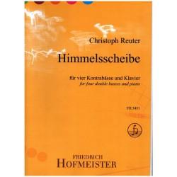 Reuter, Christoph: Himmelsscheibe : für 4 Kontrabässe und Klavier