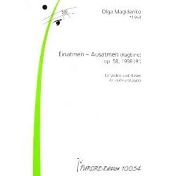 Magidenko, Olga: Einatmen - Ausatmen op.58 : für Violine und Klavier