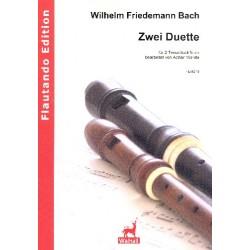 Bach, Wilhelm Friedemann: 2 Duette : für 2 Tenorblockflöten Partitur und Stimmen