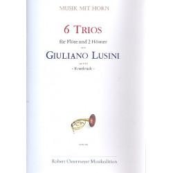 Lusini, Giuliano: 6 Trios : f├╝r Fl├Âte und 2 H├Ârner Partitur und Stimmen