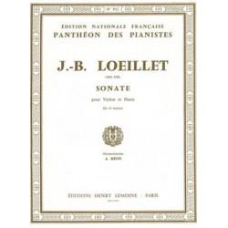 Loeillet de Gant, Jean Baptiste: Sonate ré majeur : pour violon et piano