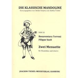Terreni, Bonaventura: 2 Menuette : für Mandoline und Gitarre Partitur und Stimmen
