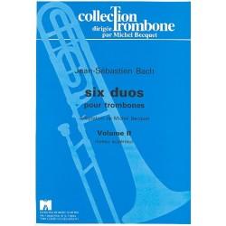 Bach, Johann Sebastian: 6 Duette Band 2 : für 2 Posaunen