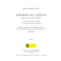 Dall'Abaco, Evaristo Felice: Concerto all unisono D-Dur op.2,6 : für Cembalo und Zupforchester Cembalo