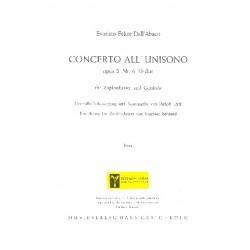 Dall'Abaco, Evaristo Felice: Concerto all unisono D-Dur op.2,6 : für Cembalo und Zupforchester Mandoloncello