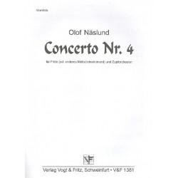 Näslund, Olof: Konzert Nr.4 für Flöte (Melodieinstrument) und Zupforchester Mandola