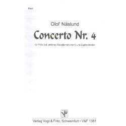 Näslund, Olof: Konzert Nr.4 : für Flöte (Melodieinstrument) und Zupforchester Kontrabass