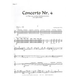 Näslund, Olof: Konzert Nr.4 : für Flöte (Melodieinstrument) und Zupforchester Mandoline 2