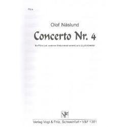 Näslund, Olof: Konzert Nr.4 für Flöte (Melodieinstrument) und Zupforchester Flöte